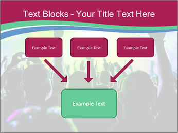 Cheering crowd PowerPoint Template - Slide 70