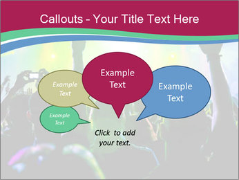 Cheering crowd PowerPoint Template - Slide 73
