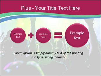 Cheering crowd PowerPoint Template - Slide 75
