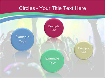Cheering crowd PowerPoint Template - Slide 77