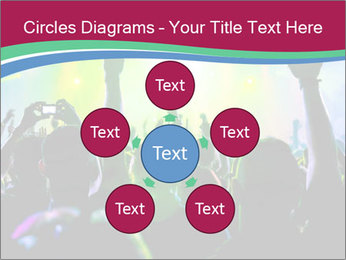 Cheering crowd PowerPoint Template - Slide 78