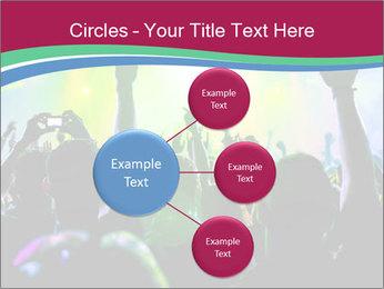 Cheering crowd PowerPoint Template - Slide 79