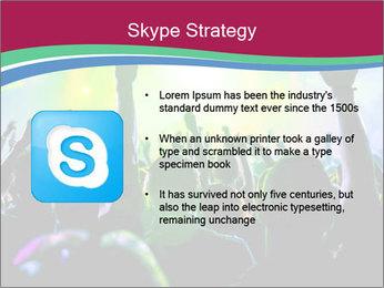Cheering crowd PowerPoint Template - Slide 8