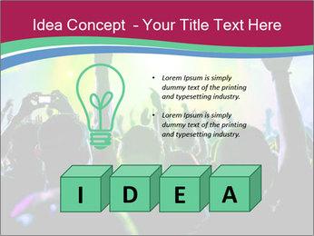 Cheering crowd PowerPoint Template - Slide 80