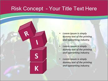 Cheering crowd PowerPoint Template - Slide 81
