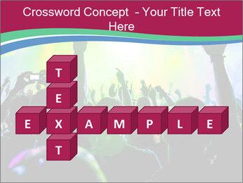 Cheering crowd PowerPoint Template - Slide 82