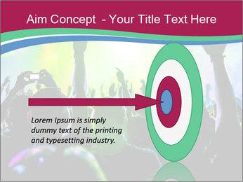 Cheering crowd PowerPoint Template - Slide 83