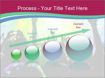 Cheering crowd PowerPoint Template - Slide 87