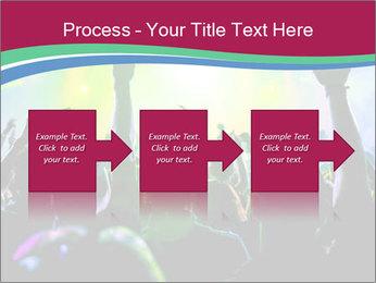 Cheering crowd PowerPoint Template - Slide 88