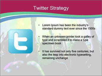 Cheering crowd PowerPoint Template - Slide 9