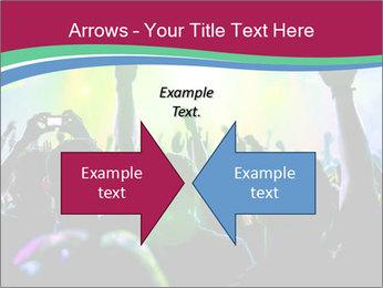 Cheering crowd PowerPoint Template - Slide 90