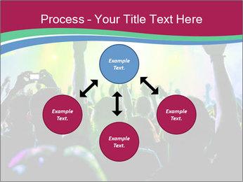 Cheering crowd PowerPoint Template - Slide 91