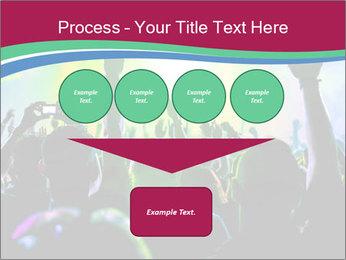 Cheering crowd PowerPoint Template - Slide 93