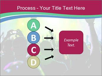 Cheering crowd PowerPoint Template - Slide 94