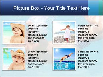 Baby boy dives underwater PowerPoint Template - Slide 14