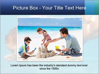 Baby boy dives underwater PowerPoint Template - Slide 15