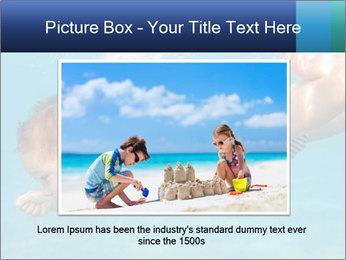 Baby boy dives underwater PowerPoint Template - Slide 16