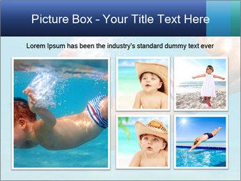 Baby boy dives underwater PowerPoint Template - Slide 19