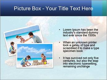 Baby boy dives underwater PowerPoint Template - Slide 20