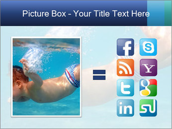 Baby boy dives underwater PowerPoint Template - Slide 21