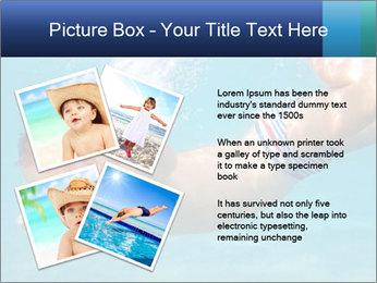 Baby boy dives underwater PowerPoint Template - Slide 23