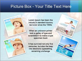 Baby boy dives underwater PowerPoint Template - Slide 24