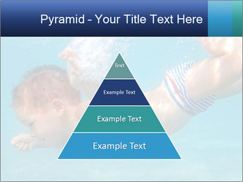 Baby boy dives underwater PowerPoint Template - Slide 30