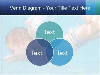 Baby boy dives underwater PowerPoint Template - Slide 33