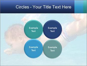 Baby boy dives underwater PowerPoint Template - Slide 38