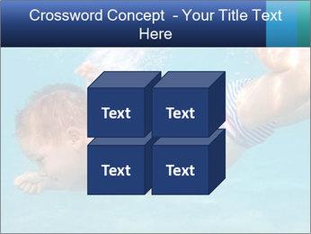 Baby boy dives underwater PowerPoint Template - Slide 39