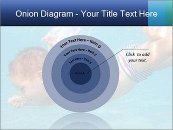 Baby boy dives underwater PowerPoint Template - Slide 61
