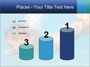 Baby boy dives underwater PowerPoint Template - Slide 65