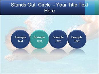 Baby boy dives underwater PowerPoint Template - Slide 76