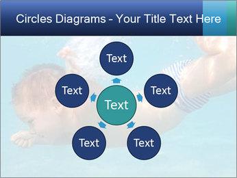 Baby boy dives underwater PowerPoint Template - Slide 78