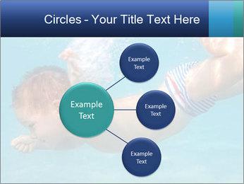 Baby boy dives underwater PowerPoint Template - Slide 79