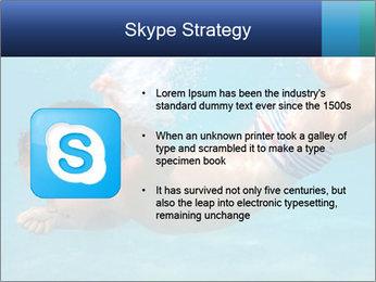Baby boy dives underwater PowerPoint Template - Slide 8