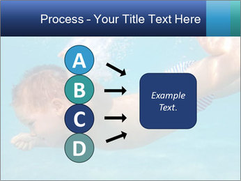 Baby boy dives underwater PowerPoint Template - Slide 94