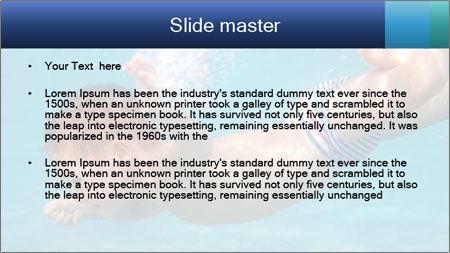 Baby boy dives underwater PowerPoint Template - Slide 2