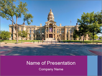 Wyoming PowerPoint Template - Slide 1