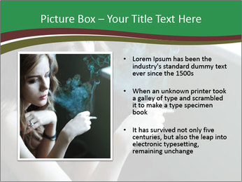 Girl smokes PowerPoint Template - Slide 13