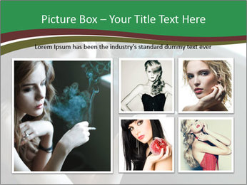 Girl smokes PowerPoint Template - Slide 19