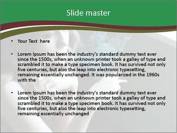 Girl smokes PowerPoint Template - Slide 2