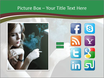 Girl smokes PowerPoint Template - Slide 21