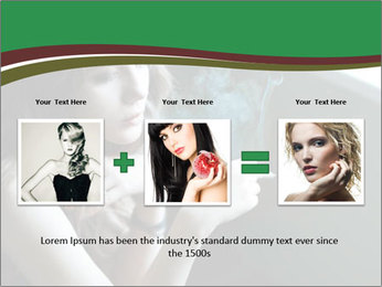 Girl smokes PowerPoint Template - Slide 22