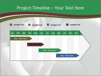 Girl smokes PowerPoint Template - Slide 25