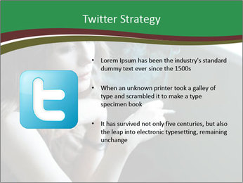 Girl smokes PowerPoint Template - Slide 9