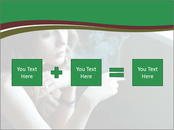 Girl smokes PowerPoint Template - Slide 95