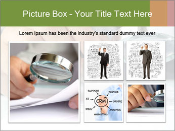 Businessman looking documents PowerPoint Templates - Slide 19