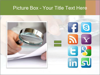 Businessman looking documents PowerPoint Templates - Slide 21
