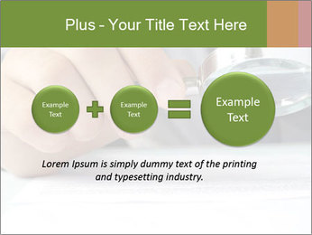 Businessman looking documents PowerPoint Templates - Slide 75